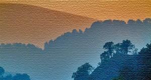 Filtre dynamique - texture toile sur une photo de montagne