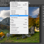 "Photoshop, menu ""Affichage - Taille d'impression"""