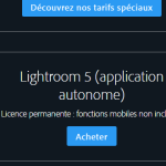 Acheter Lightroom 5 en version autonome (licence permanente) sur le site d'Adobe France