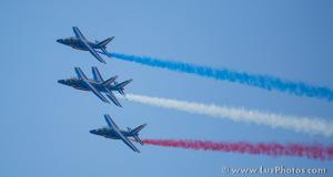 Alphajets de la patrouille de France en formation