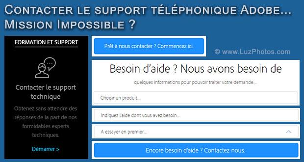 Contacter le support téléphonique d'Adobe : mission impossible ?