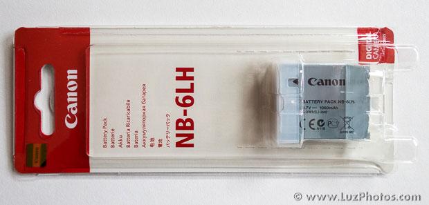 Batterie Canon NB-6LH dans son emballage d'origine