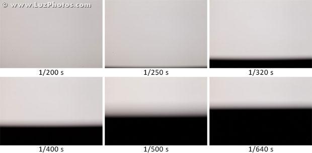 Photo au flash au delà de la vitesse synchro-flash : apparition d'une bande noire