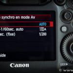 Vitesse de synchronisation du flash