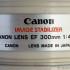 Sigles et abréviations des objectifs Canon - Canon 300 mm
