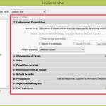 Lightroom - Fenêtre Exporter - Panneaux de paramétrage d'un export