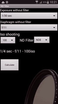 Application Android filtre ND - ND filter