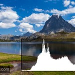 Histogramme photo - Photo de paysage avec histogramme correspondant