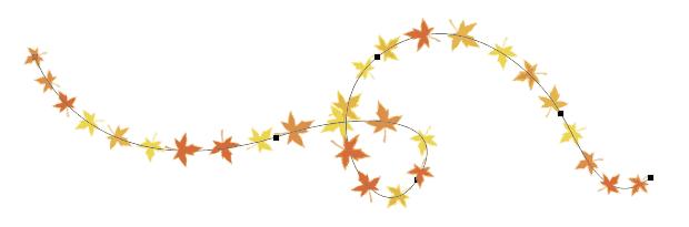 Utilité d'un tracé vectoriel (outil plume Photohsop) : forme prédéfinie le long d'un tracé