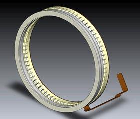 Représentation d'un système autofocus ultrasonique silencieux HSM (Hyper Sonic Motor) d'un objectif Sigma