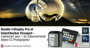 Promotions Adobe Creative Cloud pour la photo - Exemple promo Adobe / X-Rite