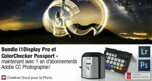 Promotions Adobe Creative Cloud pour la photo - Exemple promo Adobe / X-Rite