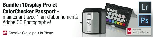 Promotion Adobe Creative Cloud pour la photo pour l'achat de produits X-Rite (1 an d'abonnement offert)