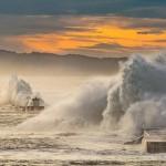 Tempête sur la côte basque - Fort de Socoa - 8 février 2016