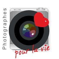 """Logo de l'association """"Photographes pour la vie"""" dont les bénéfices vont à la Ligue contre le cancer"""