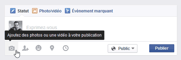 Facebook - Ajout de photos par le journal