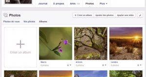 Préserver la qualité de vos images sur facebook - Section photos albums de Facebook
