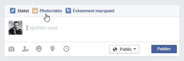 """Ajout de l'option """"Haute qualité"""" sur un album Facebook - étape 1"""