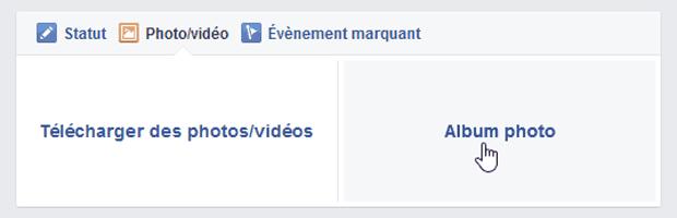 """Ajout de l'option """"Haute qualité"""" sur un album Facebook - étape 2"""