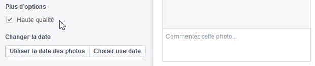 """Ajout de l'option """"Haute qualité"""" sur un album Facebook - étape 3"""