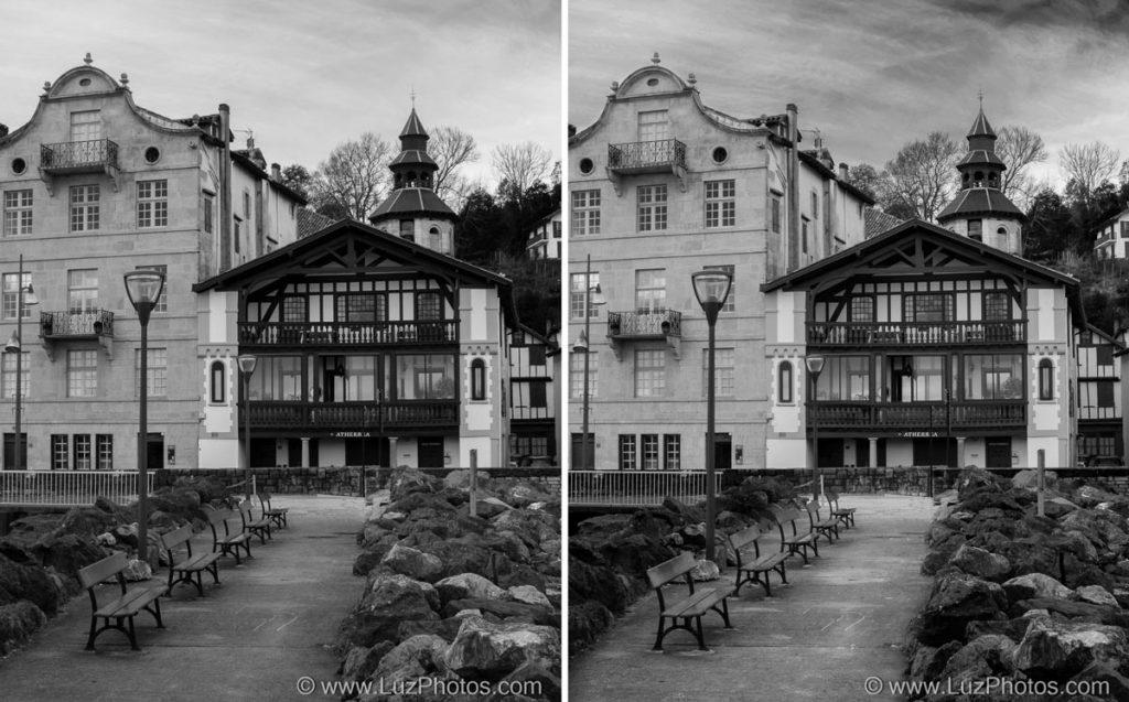 Noir et blanc Photoshop : comparaison méthode calque de réglage en mode automatique et méthode de conversion avec plusieurs calques de réglages noir et blanc