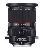 Objectif Samyang 24mm à bascule et décentrement
