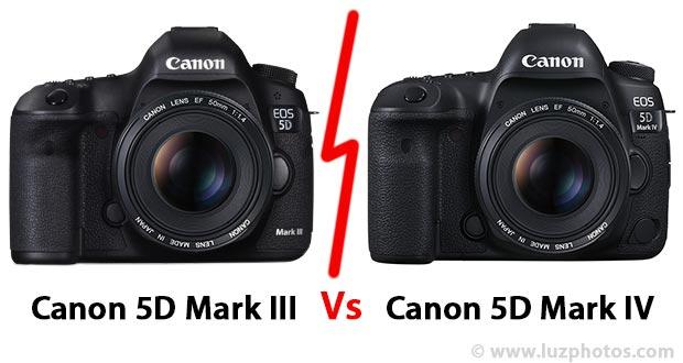 Tableau comparatif entre le Canon EOS 5D Mark IV et le Canon EOS 5D Mark III