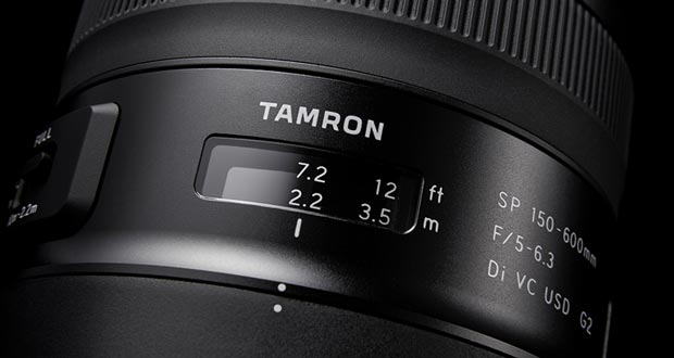 Nouveau TAMRON SP 150-600mm F/5-6.3 Di VC USD G2 - gros plan sur l'échelle des distances
