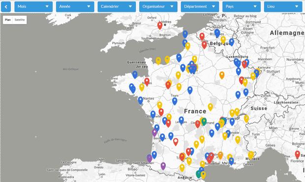 Carte de France des évènements photo : expositions, festivals photo, appel à candidature, Cours/Workshop, rencontres et conférences photo
