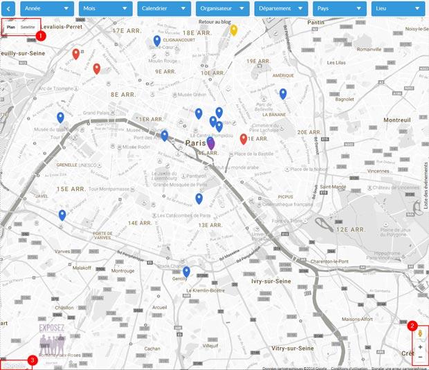 Carte Google des évènements photo (expositions, festivals photo, appel à candidature, etc.)