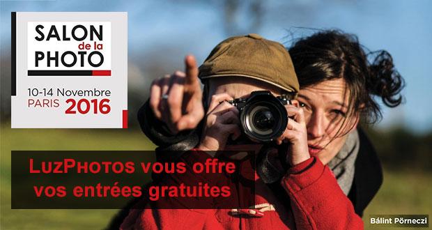 Recevez votre invitation gratuite pour le Salon de La Photo de Paris 2016 grâce au blog LuzPhotos