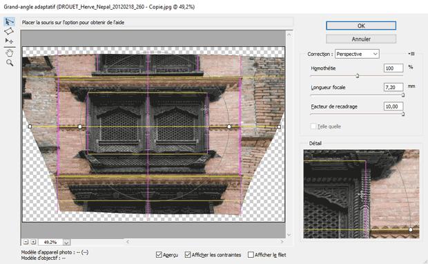 Redresser les perspectives avec Photoshop par le filtre Grand-angle adaptatif