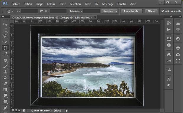 """Résultat du redressement de perspective sous Photoshop avec l'outil """"Correction de perspective par recadrage"""""""