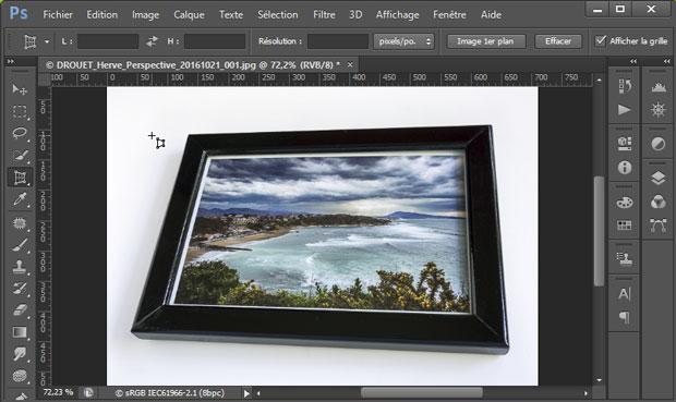 """Redresser les perspectives sous Photoshop avec l'outil """"Correction de perspective par recadrage"""""""