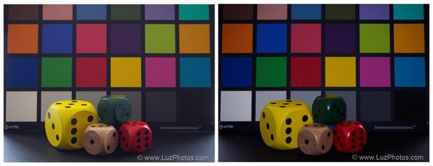 Utilité du flash intégré - accentuer les couleurs : photo sans et avec le flash interne