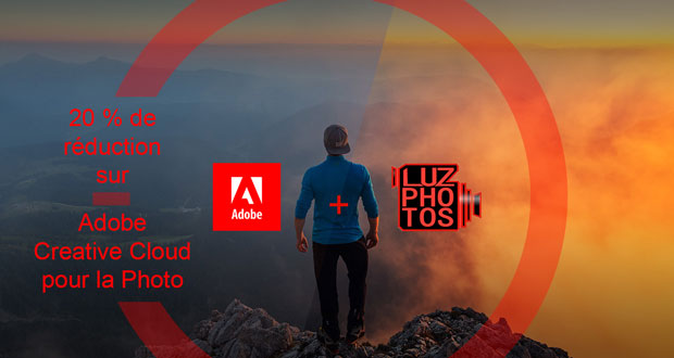 Promotion Adobe Creative Cloud pour la photo avec LuzPhotos (réduction de 20%)
