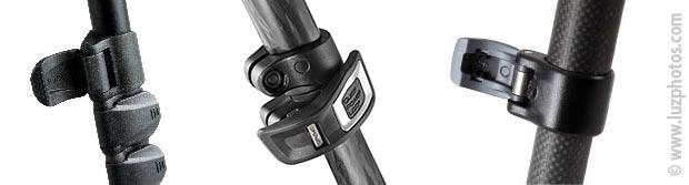 Système de verrouillage des sections d'un trépied par levier ou clapet