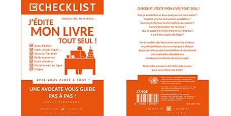 """Livre numérique """"J'édite mon livre tout seul"""" de Joëlle Verbrugge dans la collection Checklist"""