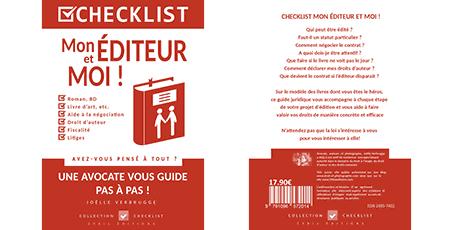 """Livre numérique """"Mon éditeur et moi"""" de Joëlle Verbrugge dans la collection Checklist"""