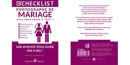 """Livre numérique """"Photographe de mariage"""" de Joëlle Verbrugge dans la collection Checklist"""