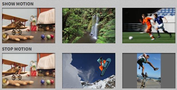 Simulateur d'exposition photo Canon - Photos avec effets de mouvements (filés ou figés)