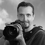 Portrait d'Hervé Drouet - photographe formateur sur la côte basque