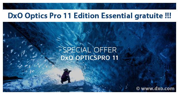 DxO Optics Pro 11 Edition Essential gratuit jusqu'au 30 novembre 2017
