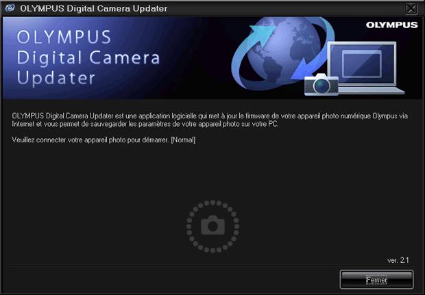 Mise à jour d'un firmware chez Olympus - Lancement du logiciel Olympus Digital Camera Updater