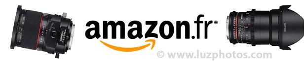 Objectifs Samyang chez Amazon