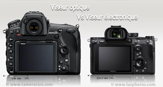 Viseur optique (APN reflex Nikon D850) Vs viseur électronique (Sony Alpha 7R III)