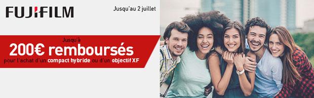 Promotion printemps-été 2018 fujifilm - Offre de remboursement jusqu'à 200 €