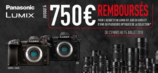 Promotion printemps-été 2018 Panasonic Lumix - Offre de remboursement jusqu'à 750 €