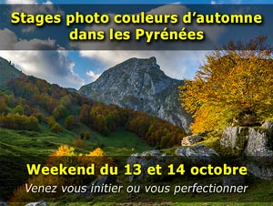 """Stage photo nature """"couleurs d'automne"""" en montagne dans les Pyrénées - Octobre 2018"""