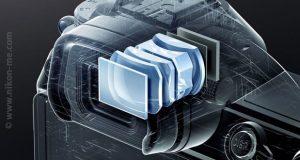 Évaluer le confort de visée à partir des caractéristiques d'un viseur - Vue de coupe du viseur du Nikon Z7